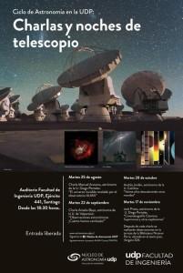 Charlas y noches de telescopio gratuitas, UDP