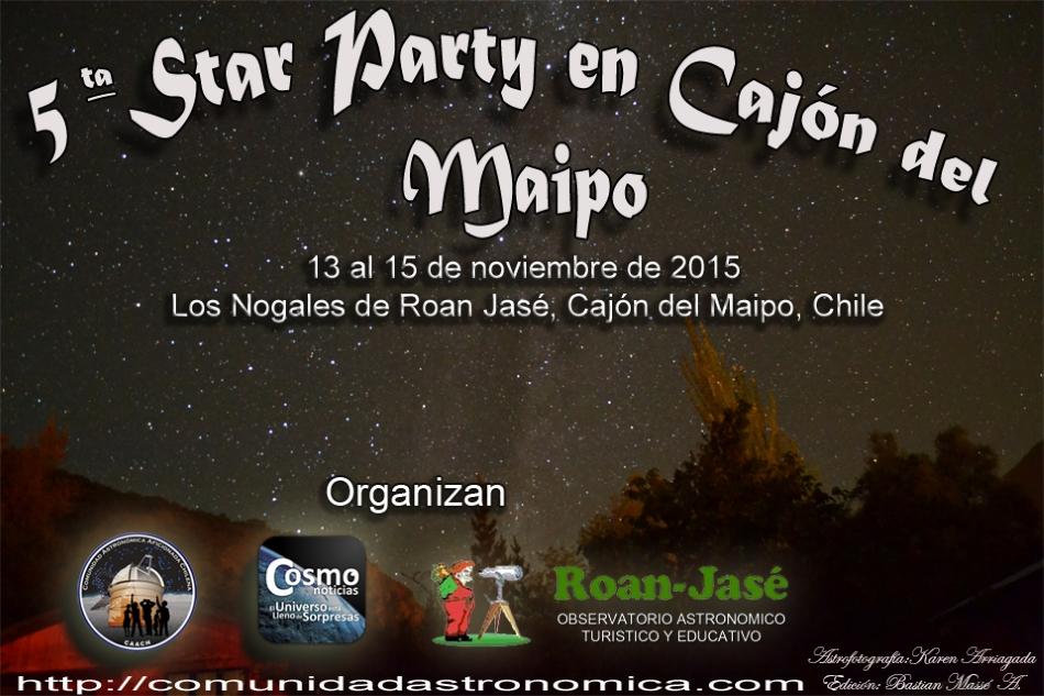 V Star Party en el Cajón del Maipo