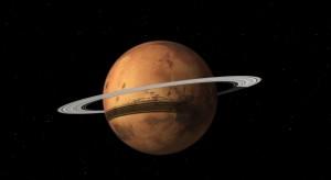 Marte con anillos