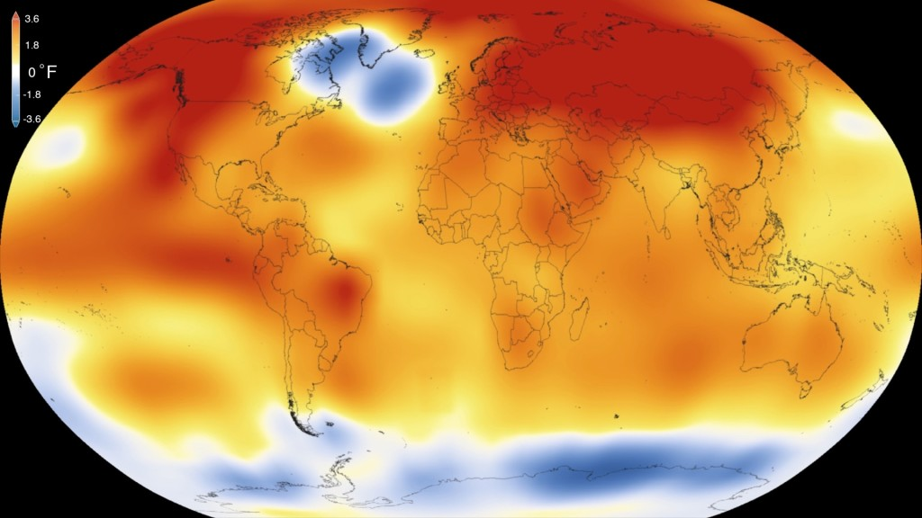 Temperaturas globales 2015