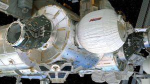 Módulo BEAM instalado en la Estación Espacial Internacional tras su expansión.Concepto del artista. Crédito: Bigelow Aerospace