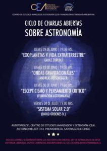 Charlas, CEA Astromanía
