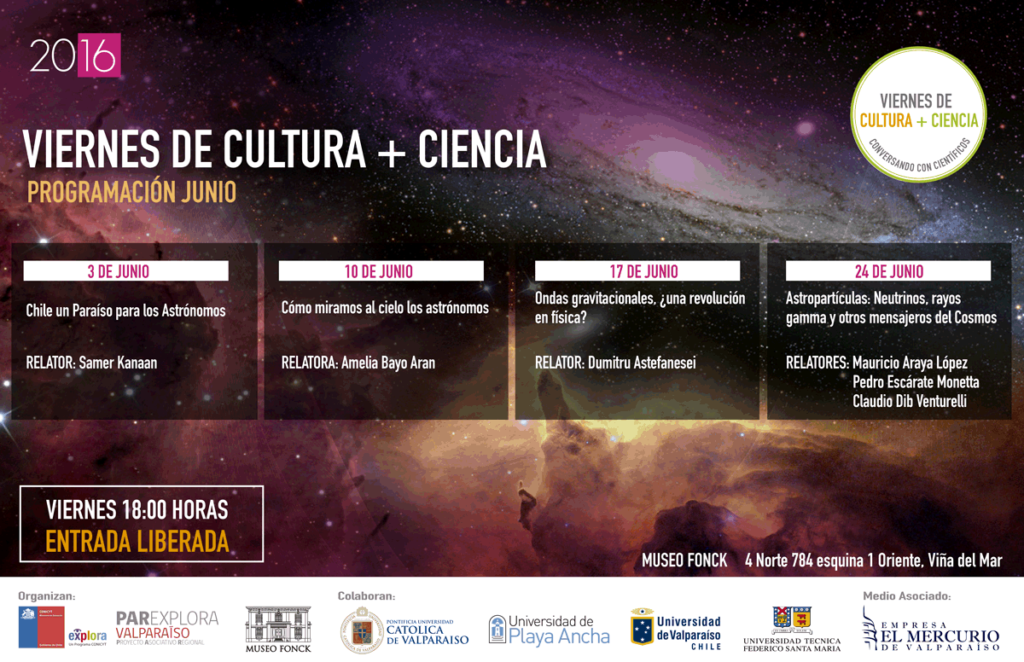 """""""Viernes de Cultura + Ciencia"""", junio 2016"""