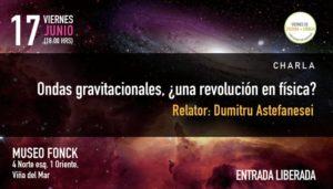 """Charla """"Ondas gravitacionales, ¿una revolución en física?"""""""
