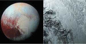 Polígonos en superficie de Plutón