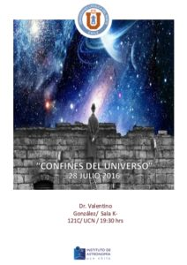 """Charla """"Confines del Universo"""""""