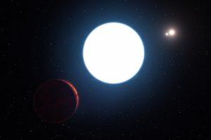 Sistema triple HD 131399 y planeta