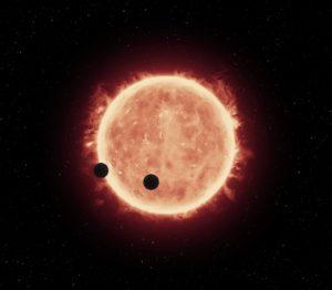 Exoplanetas rocosos TRAPPIST-1