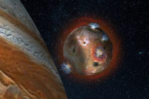 Ío eclipsado por Júpiter