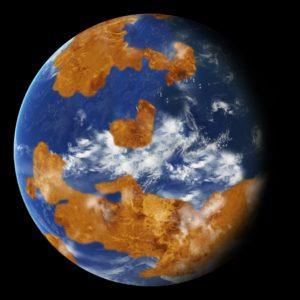 Tierra y océanos en Venus