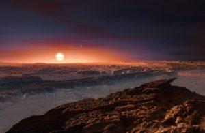 Paisaje exoplaneta Próxima b