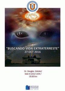 "Charla ""Buscando vida extraterrestre"""