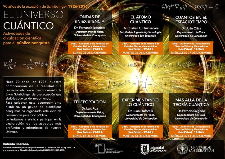 """Ciclo conferencias """"El Universo Cuántico"""""""