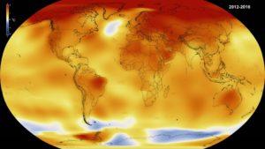 Temperaturas medias, 2012-2016