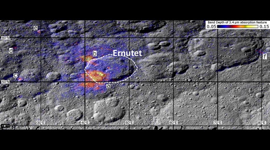 Compuestos orgánicos en Ceres
