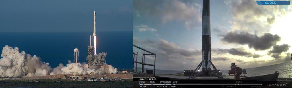 Lanzamiento y aterrizaje SES-10
