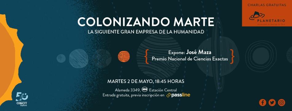 """Charla """"Colonizando Marte"""""""