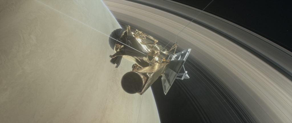 Cassini entre Saturno y sus anillos