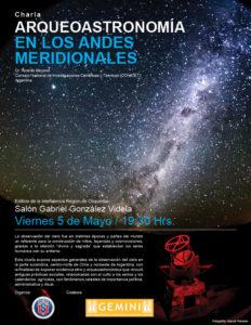 """Charla """"Arqueoastronomía en los Andes Meridionales"""""""
