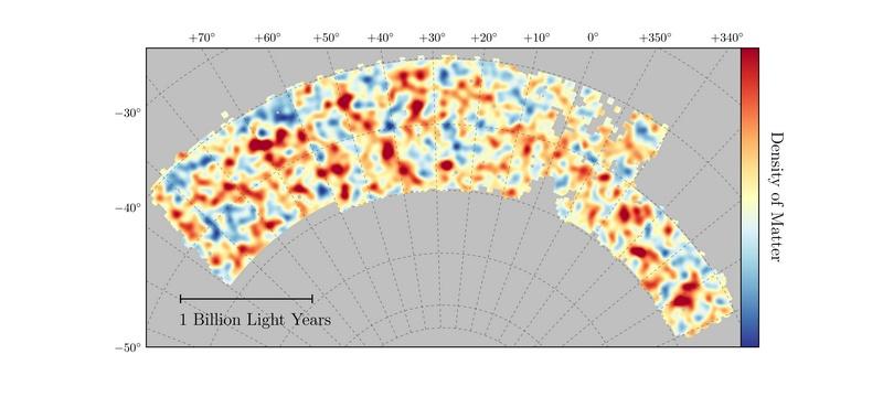 Mapa de materia oscura