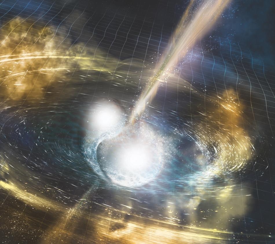 Observada por primera vez la luz producida por una fuente de ondas gravitacionales
