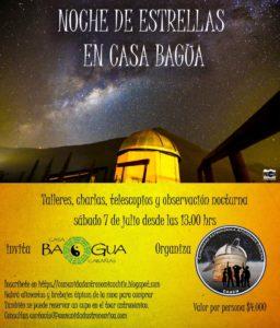 Noche de Estrellas en Casa Bagua, 7 julio 2018