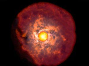 Material supergigante roja