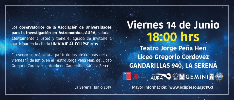"Charla ""Un viaje al eclipse 2019"""
