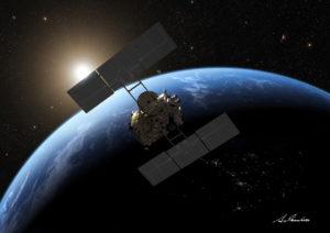 Hayabusa2 sobrevolando Tierra
