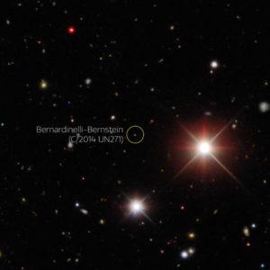 Descubrimiento cometa Bernardinelli-Bernstein