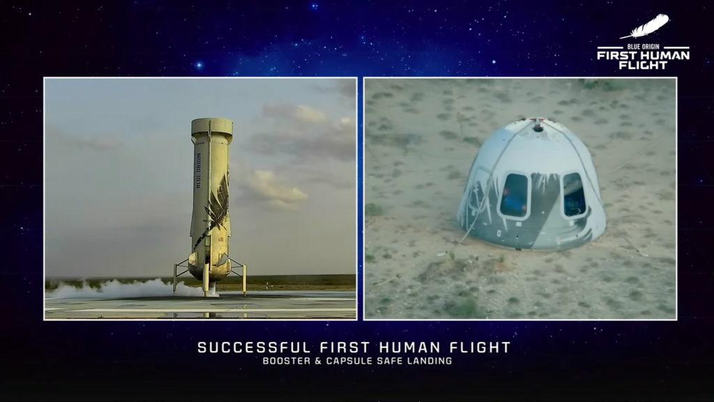 Primer vuelo tripulado New Shepard