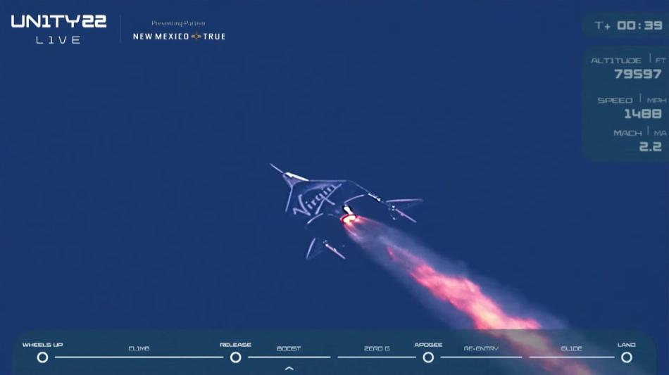 SpaceShipTwo, primer vuelo tripulado