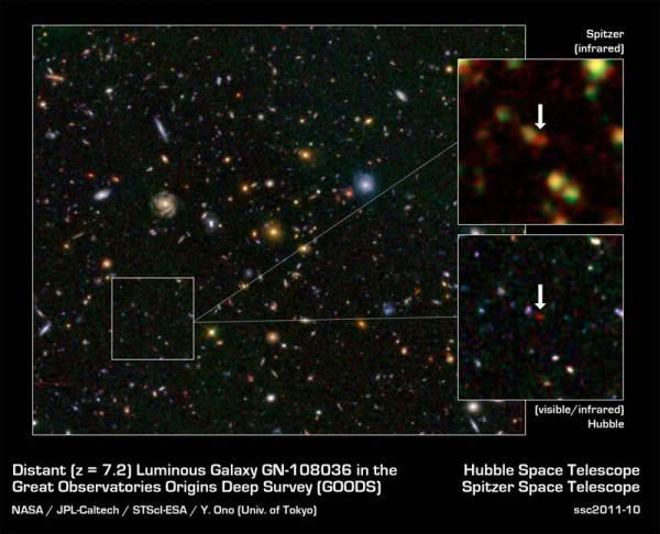 Una extraña galaxia en el borde del universo observable   Cosmo Noticias
