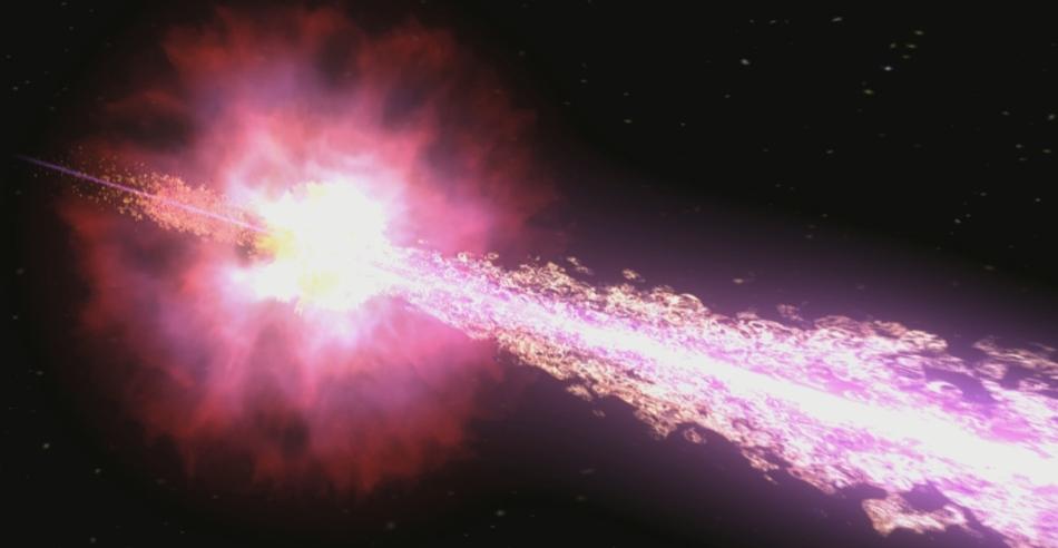 La NASA detecta la explosión de rayos gamma de una ...